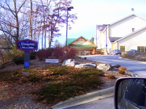 Hampton Inn in Cashiers, NC.  A perfect place to stay while you're looking for your Cashiers Home!