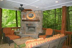 Adorable Cottage with newly added Outdoor Living Room in Cedar Creek Racquet Club in Cashiers, NC